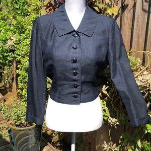 Vintage Vogue Blue Jacket / Blazer   D118